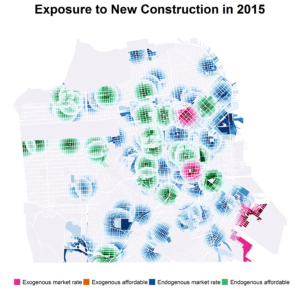 This map shows the locations of new construction in San Francisco in 2015.